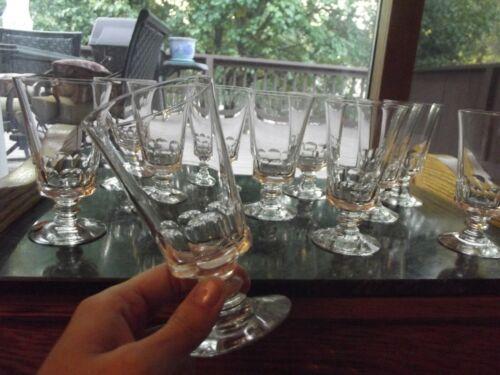 "Set (11) Juice Goblets Glasses 4-1/2"", Fostoria Crystal Dolly Madison cut"