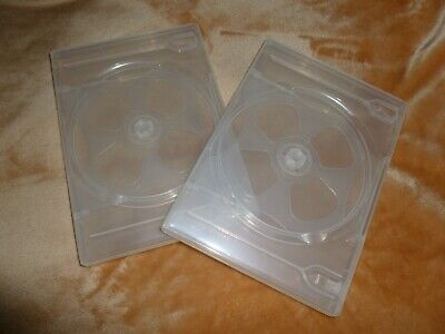 Frosted Clear Quad Dvd Movie Box Case 58 14 Mm Slim Holds 4 Discs New-singles