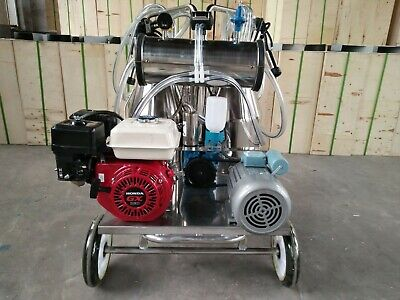 4mul8 Machinery - Gasoline Vacuum Pump Milking Machine For Cows - Double Tank