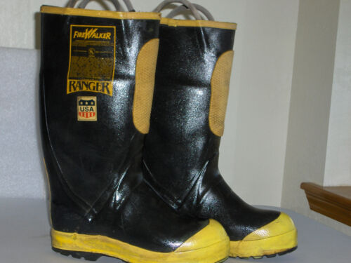 FireWalker Ranger Firefighter Turnout Gear Rubber Boots S.Toe Size 9M R221-BONUS