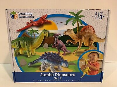 Learning Resources Jumbo Dinosaurs Set 2 wt 5 pieces of dinosaurs Ages 3+ (2wt 3 Piece)