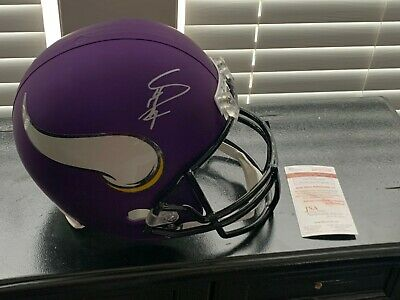 Dalvin Cook Minnesota Vikings Autographed Signed Full Size Speed Replica Helmet with Skol Inscription JSA Authentic