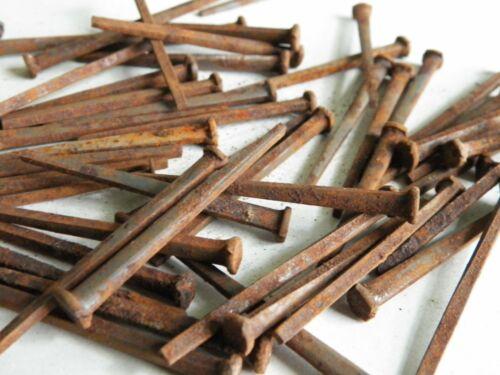 """50 Antique 2"""" Square Iron Nails Unused"""