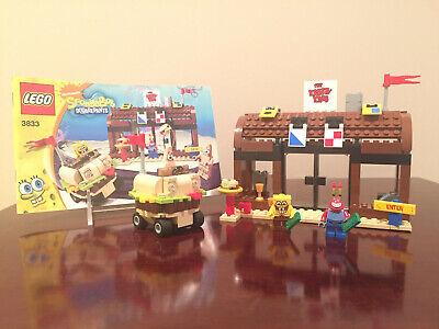LEGO 3833 - SPONGEBOB Krusty Krab Adventures 100% Complete w/ Minifigs & Manual
