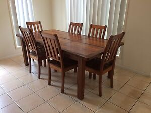 Stunning Jimmy Possum Wooden Dining table and chairs Springfield Ipswich City Preview