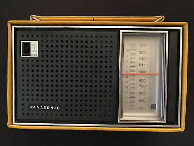 Vintage Panasonic AM Radio Model R-1449 (A3R) Yellow Mustard Case W/Ear Piece!