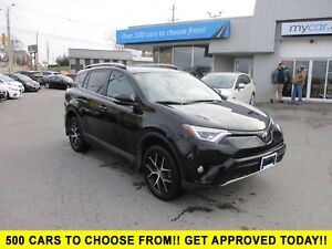 2017 Toyota RAV4 SE LEATHER, SUNROOF, NAV, HEATED SEATS, AWD!!