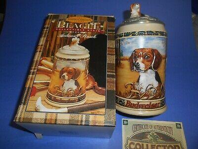 Budweiser  Hunters Companion Stein Series Beagle 4th 1995 Anheuser Busch NIB
