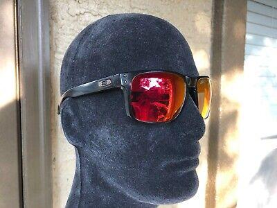 Oakley Holbrook Sunglasses Matte Black Ruby Iridium Polarized OO9102-51