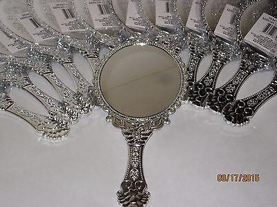 Vintage Style Silver Vanity Mirror - Handheld, Princess Parties, Girls, Makeup
