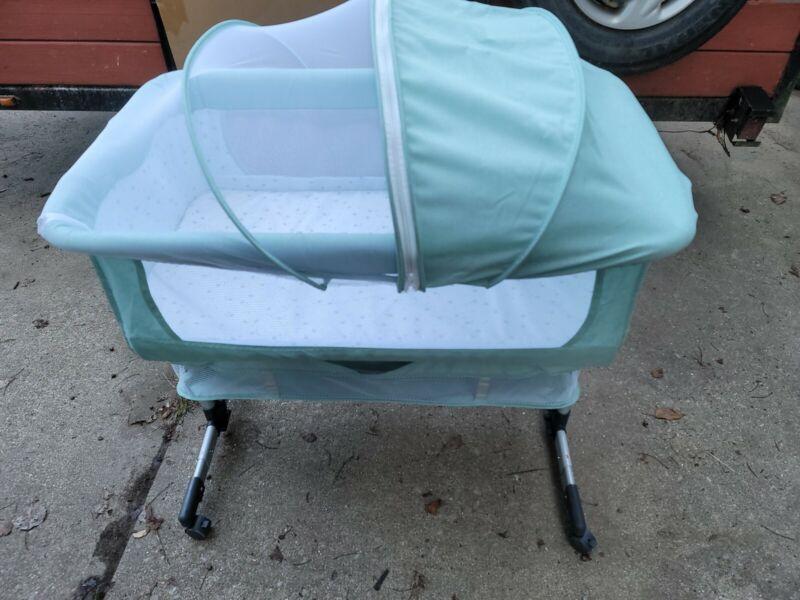 3in1 Bedside Bassinet for Baby Girl or Boy, Bedside Sleeper Bassinet for Baby