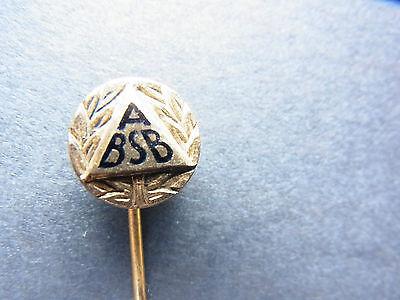 alte Anstecknadel unbekannt ABSB ?? Goldene Ehrennadel 1000 Silber