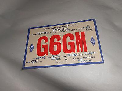 Vintage 1947 QSL Amateur Radio Card G6GM Holsworthy Devonshire England