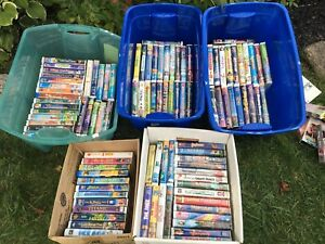 Variety Of Kids Disney VCR Tapes,DVDs/Cd's