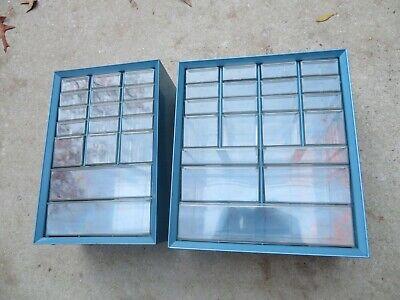 Vintage Pair Akro Mills Cabinet Storage Bin Organizer