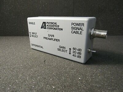 Physical Acoustics 246 Differential Preamplifier 10-1200 Khz 28 Vdc 0.2a