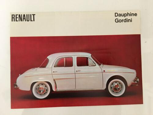 ORIGINAL vintage CAR BROCHURE dauphine gordini RENAULT flyer COLOR PROSPEKT
