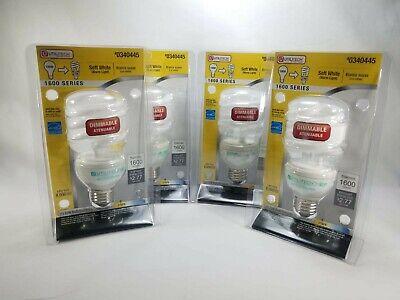 - 4 bulbs Utilitech 23W Dimmable Soft White 100W to 23W CFL Light Bulb