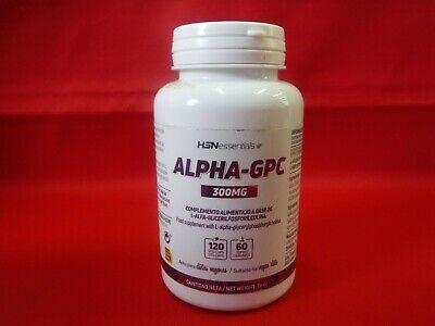 ALPHA - GPC 300 MG - HSNESSENTIALS - 120 CAPSULES - 05/2021