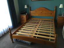 Queen size Baltic Pine colonial bed plus new mattress Happy Valley Morphett Vale Area Preview