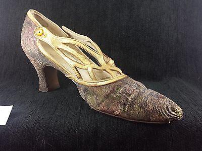 Vintage 1920s Flapper Wedding Shoes Floral  DECO Shoes!
