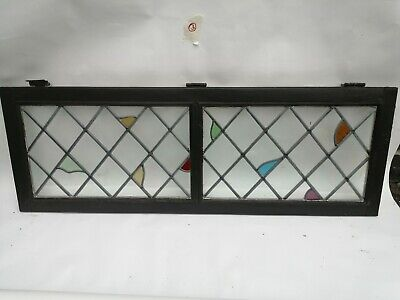 Stained glass leaded windows / Two in one frame (Set 5)