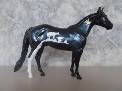 2002 Peter Stone Cowboy Christmas Living Horse Series Black Decorator ISH