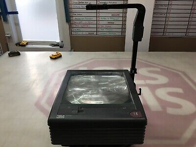 3M 9550 Overhead Projector Folding Model 9000AJH w/ Bulb, Reflector Glass Broken