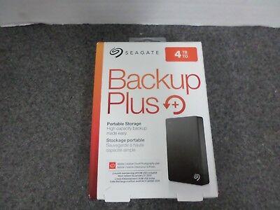 New Seagate 4Tb Backup Plus Portable External Hard Drive Stdr4000100