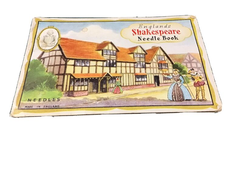 Vintage England's Shakespeare Needle Book