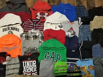 HUGE 30 Pc Lot of BOYS Fall / Winter Clothes Sz 7 - 8 ~ GREAT BRAND NAMES!  7/8