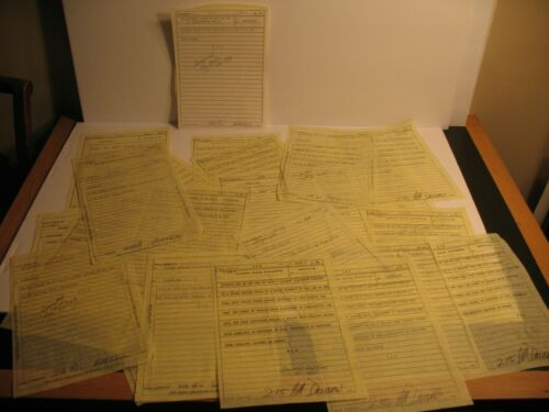 RAILROAD TRAIN ORDER LOT OF 30 BALTIMORE & OHIO CHESSIE C&O CUMBERLAND 1984