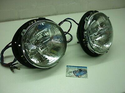 "PAIR 7/"" Plastic Headlamp Headlight Bowl Bucket KIT MG MINI TRIUMPH LAND ROVER"