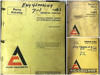 Allis Chalmers Hd41 Tractor Crawler Dozer Operator Operation Manual Books Price