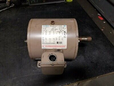 Ao Smith 3 Hp Electric Ac Motor 230460 Vac 1745 Rpm S182t Frame 3 Phase