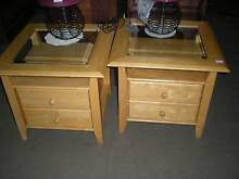 2 x Glass Top Bedside Tables ( price is each bedside ) Windsor Hawkesbury Area Preview