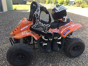 70cc quad bike with safety gear Pine Mountain Ipswich City Preview