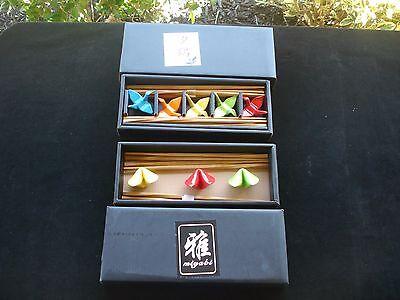 Chopstick Rests--Fortune Cookies(3) & Crane Birds(5)