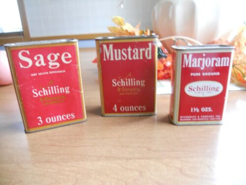 3 SHILLING ANTIQUE AND VINTAGE SPICES 2 larger ones and one smaller