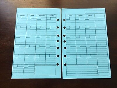 Monthly Undated Refill For A5 7-ring Planner Organizer Insert