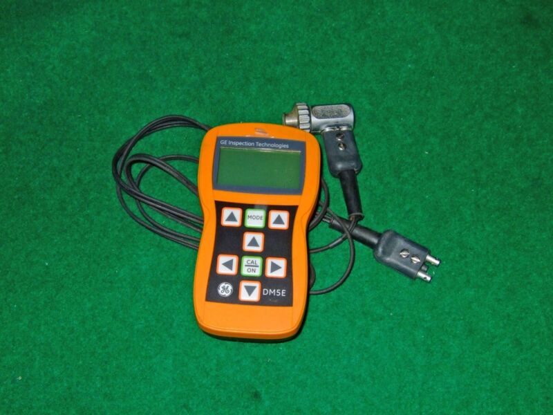Ge Inspection Krautkramer Dm5e Ultrasonic Flaw Detector Gauge  With Da301 Probe