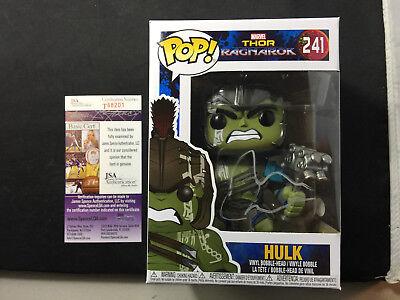 Mark Ruffalo Signed Hulk Funko Pop Thor Ragnarok The Avengers JSA PSA