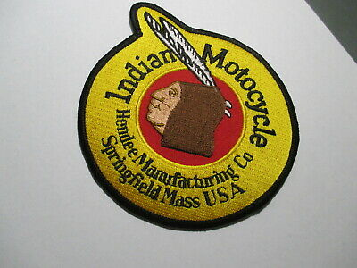 Indian Motocycle Hendee CO Patch,Vintage,Original, NOS 4 1/4 x 4 7/8 INCHES,