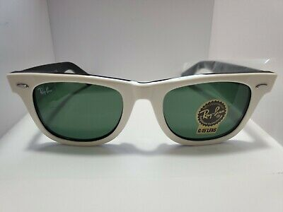 BRAND NEW Ray-Ban Original Wayfarer RB2140 956 White with Black Frame (Rayban Wayfarer Frames)