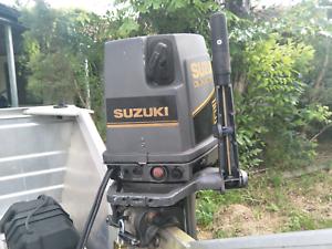 Stacer 399 Proline 25hp Suzuki on trailer.