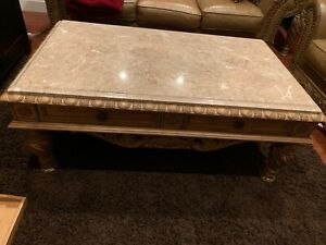 Marble Coffee Table and End Table