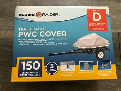 Marine Raider Model D Pwc Cover Fits Most 2 and 3 Seater Personal Watercraft