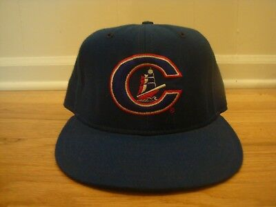 d3ab83b6365e0 VTG Columbus Clippers New Era 7 1 4 hat cap 90s retro game used  Wool old  logo