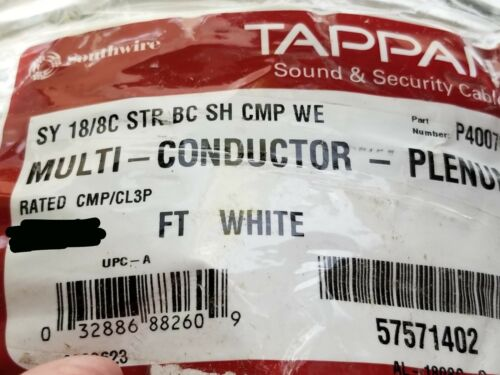Southwire/Tappan 18/8C Stranded Shielded Plenum Communication Cable White /50ft