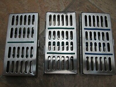 Dental Sterilization Cassettes- Lot Of Three